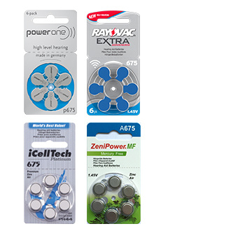 Size 675 Hearing Aid Battery Trial Pack