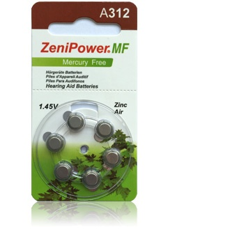 Size 312 Zenipower HP - 10 packets (60 cells)
