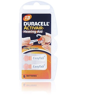 Size 13 Duracell Activair - 1 packet (6 cells)