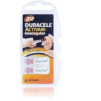Size 312 Duracell Activair - 1 packet (6 cells)