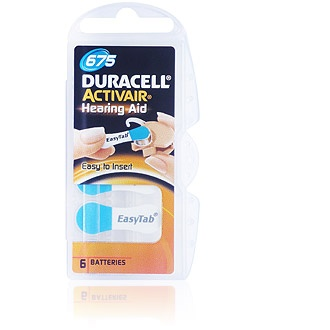 Size 675 Duracell Activair - 5 packets (30 cells)