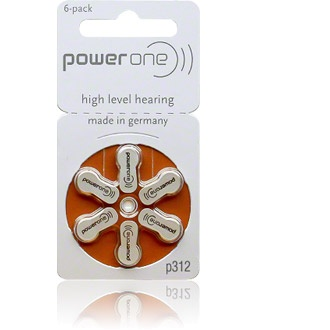 Size 312 Power One - 1 packet (6 cells)