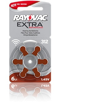 Size 312 Rayovac Extra Advanced - 5 packets (30 cells)