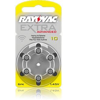 Size 10 Rayovac Mercury Free - 1 packet (6 cells)
