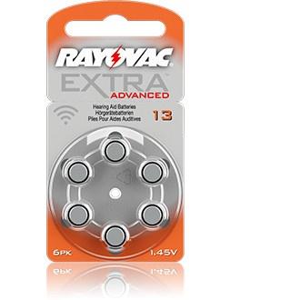 Size 13 Rayovac Mercury Free - 10 packets (60 cells)